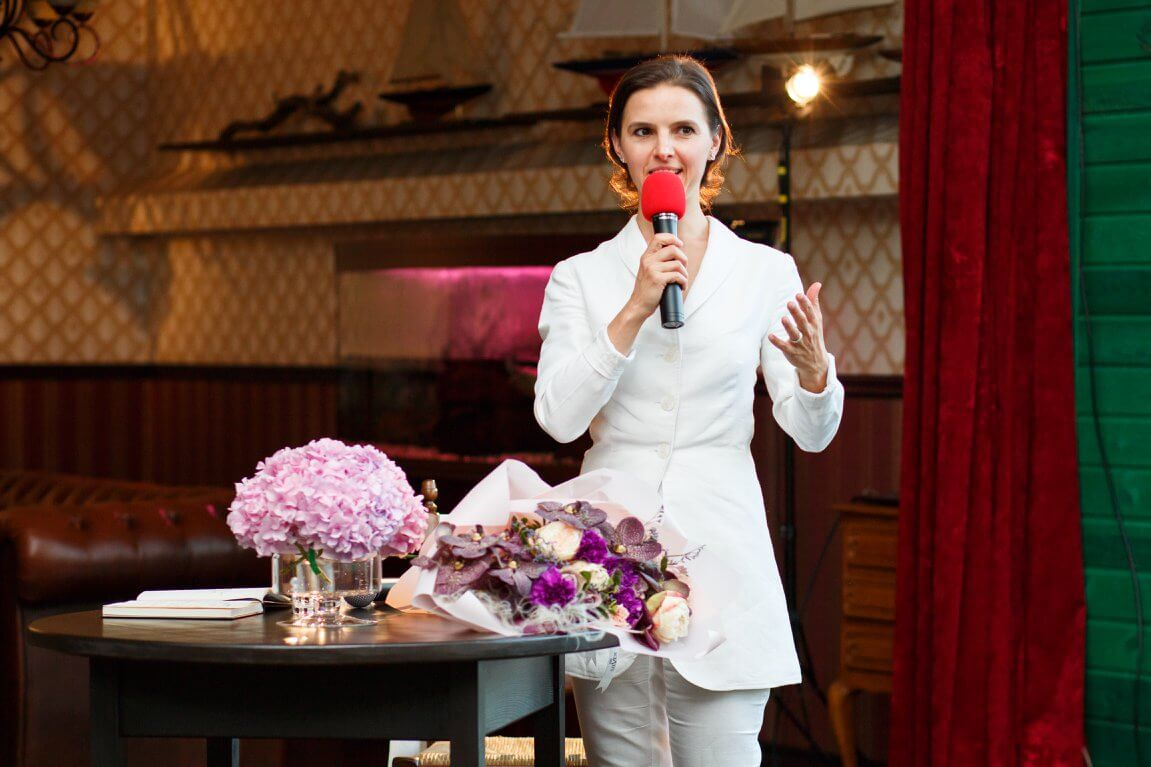 Oksana Lyniv as guest speaker at SHE. event